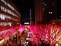 Roppongi Hills Keyakizaka at night 20141224-red 02.jpg