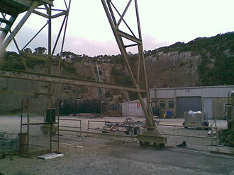 Rosemanowes Quarry - Tower wheels