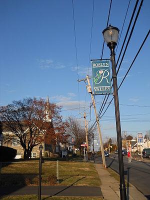Roslyn, Pennsylvania - Bradfield Road in Roslyn, January 2013
