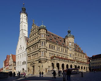 Rothenburg ob der Tauber - Town Hall of Rothenburg