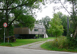 Otl Aicher - One of the studio buildings designed by Aicher for his office