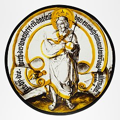 Roundel with Christ as Savior of the World