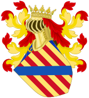 Royal Coat of Arms of the Monarchs of Majorca since the 14th Century.svg