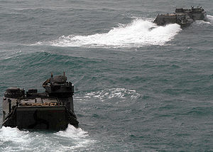 Royal Thai Navy - Royal Thai Navy AAV-7A1 amphibious assault vehicles, during Cooperation Afloat Readiness and Training (CARAT) 2008