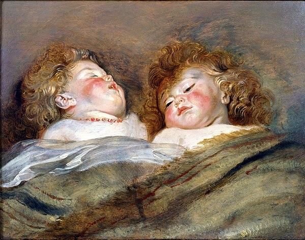 RUBENS, Pieter Pauwel Two Sleeping Children c. 1612 - 1613