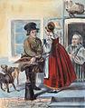 Rudolf Zukowski - A peddler of meet for cats, 1843.jpg
