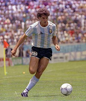 Oscar Ruggeri - Ruggeri playing for Argentina   during the 1986 World Cup.