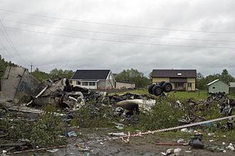 RusLine - The wreckage of Flight 243.