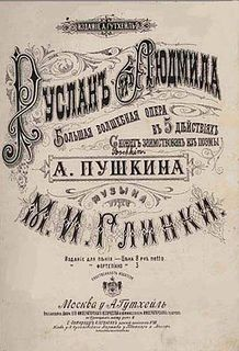 <i>Ruslan and Lyudmila</i> (opera) opera by Glinka