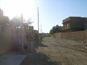 Ar-Rutba District - Street scene in Ar Rutba town (2004)  Ar Rutba is the largest, southernmost and westernmost of the districts in Al Anbar Governorate
