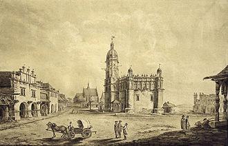 Szydłowiec - Szydłowiec in the 18th century;   by Zygmunt Vogel.
