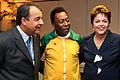 Sérgio Cabral, Pelé e Dilma Rousseff 2011.jpg