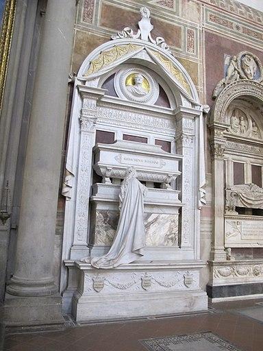 S. croce, tomba gioacchino rossini