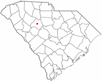 Newberry, South Carolina - Image: SC Map doton Newberry