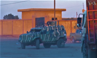 Syrian Democratic Forces - An SDF IAG Guardian armoured personnel carrier in February 2017, one of several APCs that were supplied by the United States to the SDF.