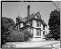 SIDE AND REAR, FROM SOUTHWEST - Long-Waterman House, 2408 First Avenue, San Diego, San Diego County, CA HABS CAL,37-SANDI,20-5.tif