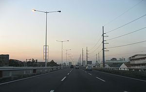 Skyway (Metro Manila) - On the northbound lane of the Skyway.