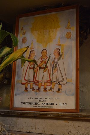Child Martyrs of Tlaxcala - Image in Mexico of the three children.