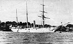 SMS HABICHT der Kaiserlichen Marine Kanonenboot Baujahr 1879 Typschiff der gleichnamigen Klasse Bis zur Außerdienststellung 1906 ununterbrochen im Auslandsdienst 1904 eingesetzt im Aufstand der Herero und Nama Verschrottet.jpg