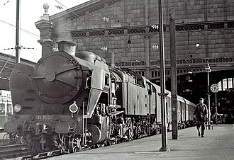 Nord 4.1201 to 4.1272 - SNCF 2-141.TC.27 at Paris Gare du Nord, late August 1970