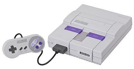 The Super Nintendo Entertainment System, the successor to the Nintendo Entertainment System SNES-Mod1-Console-Set.jpg