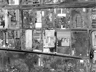 Al-Shifa pharmaceutical factory - U.S. reconnaissance satellite image of the Al-Shifa pharmaceutical factory in 1998