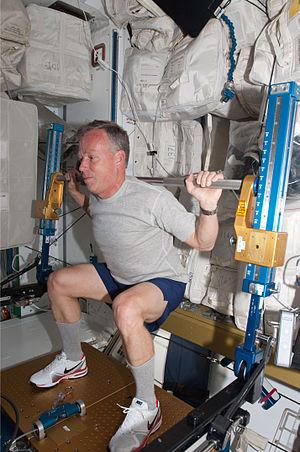Steven Lindsey - Lindsey exercises aboard the International Space Station during STS-133
