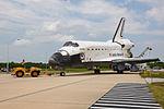 STS-135 Atlantis towback 6 (5963051107).jpg