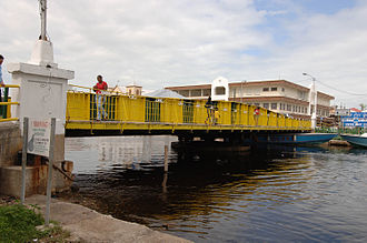 Belize City - The Swing Bridge in Belize City is the only functioning, manually operated swing bridge in the world.