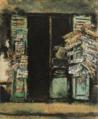SaekiYūzō-1927-News Stand.png
