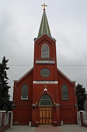 Globeville, Denver - The Saint Joseph Polish Catholic Church (Kościół św. Józefa) in Globeville.
