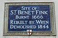 Saint Benet Fink plaque London.jpg