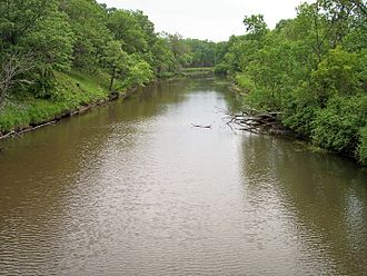 St. Francis River (Minnesota) - The St. Francis River in the Sherburne National Wildlife Refuge in 2007