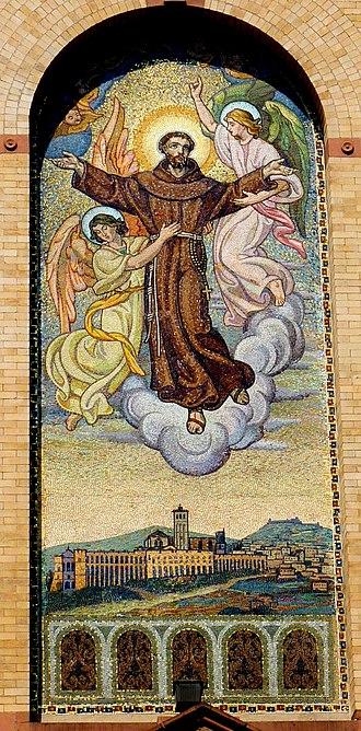 St. Francis of Assisi Church (Manhattan) - Image: Saint Francis of Assisi Church on West 31st Street, New York, NY mosaic