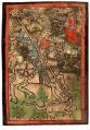 Saint Georges terrassant le dragon, Bourgogne, vers 1430.png