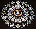 Saint Julie Billiart Catholic Church (Hamilton, Ohio) - stained glass, Immaculate Heart of Mary rose window.jpg