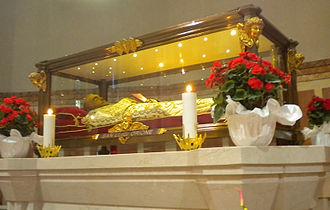 Luigi Orione - Saint Luigi Orione's body in Sanctuary of Nostra Signora della Guardia, in Tortona, Italy