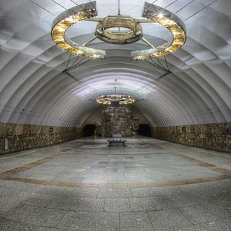 Novocherkasskaya (Saint Petersburg Metro) - Station Hall