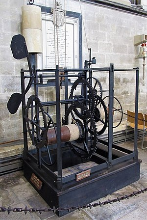 Salisbury cathedral clock - Salisbury Cathedral clock, restored