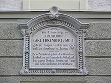 Gedenktafel an der Salzburger Universität (Quelle: Wikimedia)