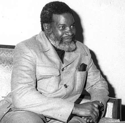 Sam Nujoma, founder and leader of SWAPO and its OPO predecessor. Sam Nujoma Romcrop2.jpg