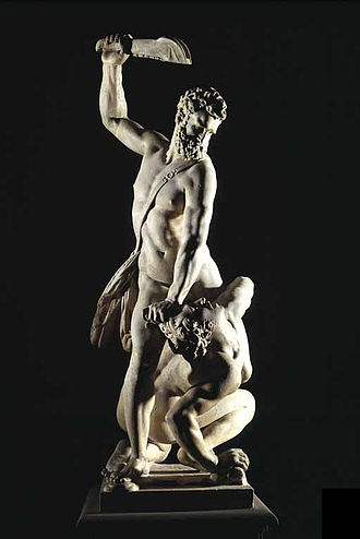 Giambologna - Samson Slaying a Philistine, about 1562.