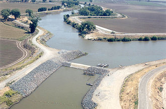 Sacramento–San Joaquin River Delta - The Old River, a former channel of the San Joaquin River located in the southwestern Delta