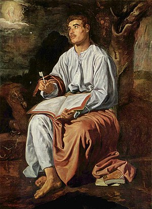 San Juan Evangelista en Patmos, by Diego Velázquez.jpg