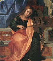 San Zaccaria Altarpiece (detail), Venice, Giovanni Bellini, 1505