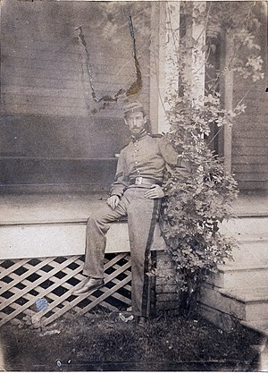 Sanford Robinson Gifford - Gifford in 1861 as a Union Army soldier