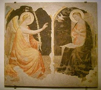 Niccolò di Pietro Gerini - Image: Santa Felicita, Niccolò di Pietro Gerini, Annunciazione (1390 circa)