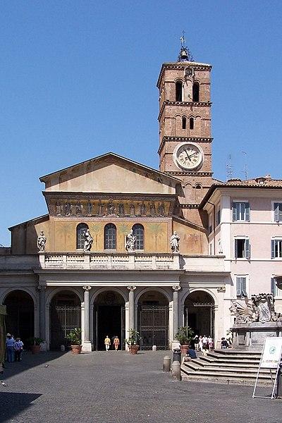 Santa María in Trastevere. Fuente: Wikipedia