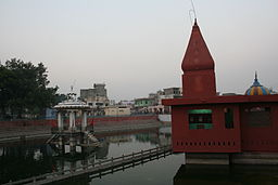 Sarawati River and Temple - Pitrudhak Teerth - Pehowa.jpg