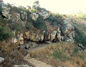 First Buddhist council - The Saptaparni Cave in Rajgir, where the First Buddhist Council may have been held.
